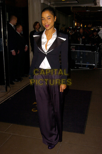 SOPHIE OKONEDO.Evening Standard Theatre Awards, Lancaster Room, The Savoy Hotel, London, England..November 27th, 2007.full length black jacket trousers flared .CAP/CAN.©Can Nguyen/Capital Pictures.