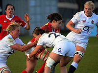 Amanda Thornborough in action during the 2017 International Women's Rugby Series rugby match between England Roses and Canada at Rugby Park in Christchurch, New Zealand on Tuesday, 13 June 2017. Photo: Dave Lintott / lintottphoto.co.nz