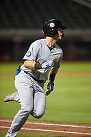 Mesa Solar Sox Zack Short (2), of the Chicago Cubs organization, runs to first base during an Arizona Fall League game against the Salt River Rafters on September 19, 2019 at Salt River Fields at Talking Stick in Scottsdale, Arizona. Salt River defeated Mesa 4-1. (Zachary Lucy/Four Seam Images)