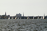 sailboat race off the charleston battery south carolina