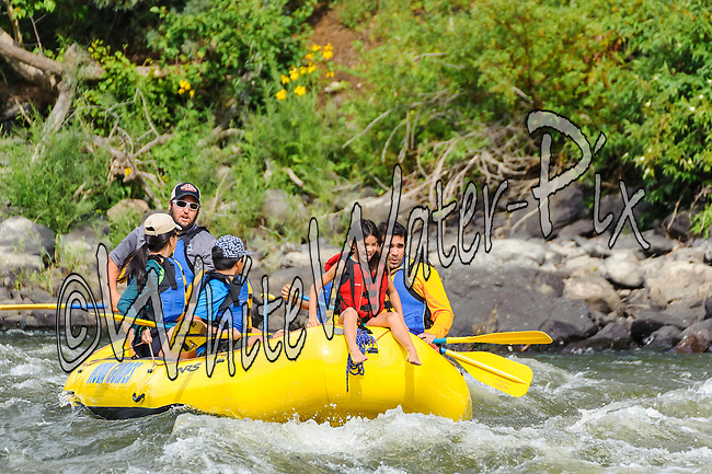 Nova Guides crashing Cable Rapid while floating the Upper Colorado River from Rancho Del Rio to State Bridge on the afternoon of August 10, 2014.