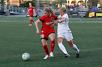 Rochester, NY - Friday June 17, 2016: Portland Thorns FC midfielder Amandine Henry (28), Western New York Flash midfielder Makenzy Doniak (3) during a regular season National Women's Soccer League (NWSL) match between the Western New York Flash and the Portland Thorns FC at Rochester Rhinos Stadium.