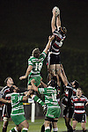 Andrew Van der Heijden claims lineout ball during the Air New Zealand rugby game between Counties Manukau Steelers & Manawatu, played at Mt Smart Stadium on the 22nd of September 2006. Counties Manukau 25 - Manawatu 25.