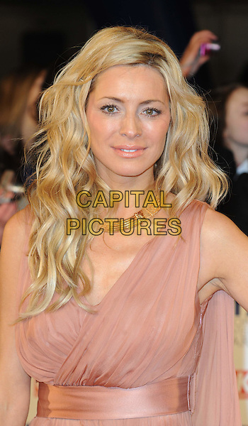 TESS DALY .National Television Awards at the O2 Arena, London, England..January 26th 2011.arrivals NTA NTAs portrait headshot blush pink draped beige gold necklace beauty hair wavy make-up .CAP/WIZ.© Wizard/Capital Pictures.