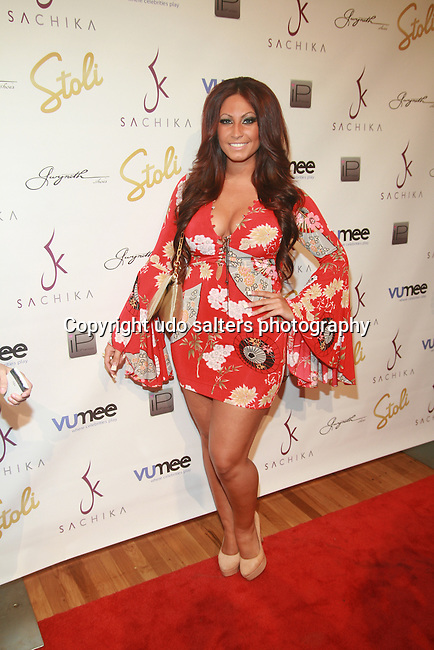 Jerseylicious' Tracy DiMarco - Arrivals: STYLE360 New York Fashion Week Presented by Stoli - SACHIKA SPRING 2012: MERMAID PARADISE - Metropolitan Pavilion New York City, USA -  9/13/11