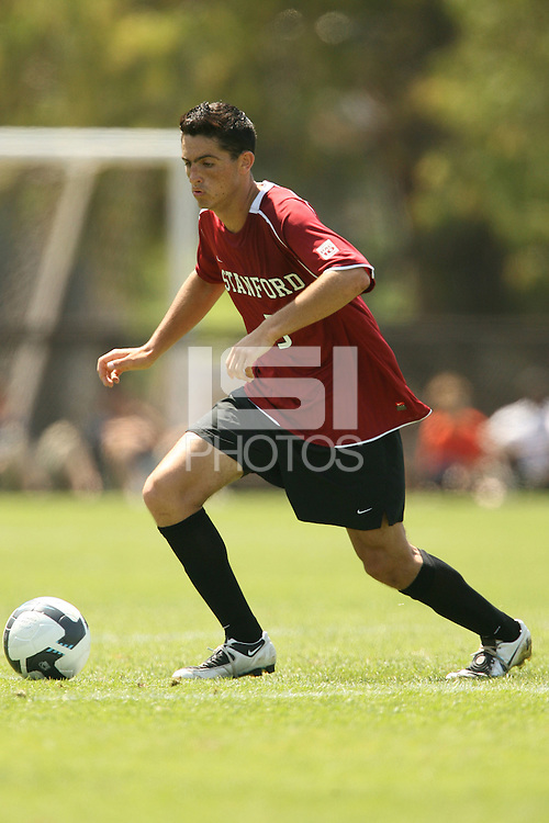 STANFORD, CA - AUGUST 20:  Hunter Gorskie of the Stanford Cardinal during Stanford's 0-0 tie with Sonoma State on August 20, 2009 in Stanford, California.