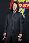 Keanu Reeves at the World premiere of 'Toy Story 4' held at the El Capitan Theater in Hollywood, USA on June 11, 2019.