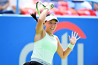 Washington, DC - August 4, 2019: Jessica Pegula (USA) in action against Camila Giorgi (ITA)  NOT PICTURED during the WTA Citi Open Woman's Finals at Rock Creek Tennis Center, in Washington D.C. (Photo by Philip Peters/Media Images International)