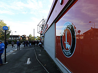 outside The Valley stadium before Charlton Athletic vs Preston North End, Sky Bet EFL Championship Football at The Valley on 3rd November 2019