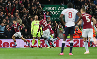 Bolton Wanderers' goalkeeper Ben Alnwick despairs as Aston Villa's  Jack Grealish celebrates scoring his side's first goal <br /> <br /> Photographer Andrew Kearns/CameraSport<br /> <br /> The EFL Sky Bet Championship - Aston Villa v Bolton Wanderers - Friday 2nd November 2018 - Villa Park - Birmingham<br /> <br /> World Copyright &copy; 2018 CameraSport. All rights reserved. 43 Linden Ave. Countesthorpe. Leicester. England. LE8 5PG - Tel: +44 (0) 116 277 4147 - admin@camerasport.com - www.camerasport.com