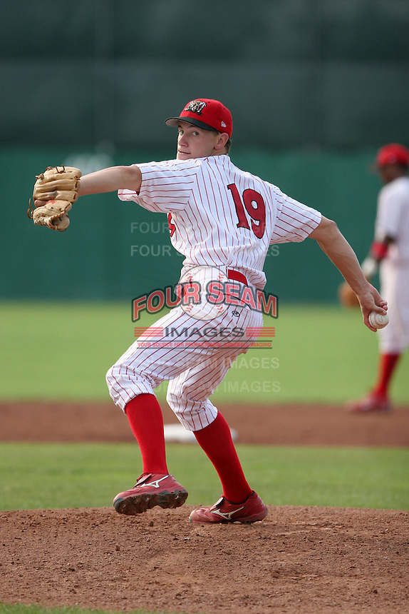 Batavia Muckdogs Ben Pfinsgraff during a NY-Penn League game at Dwyer Stadium on July 30, 2006 in Batavia, New York.  (Mike Janes/Four Seam Images)