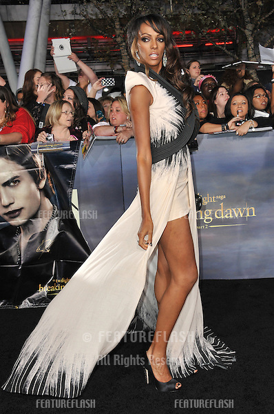 "Judi Shekoni at the world premiere of her movie ""The Twilight Saga: Breaking Dawn - Part 2"" at the Nokia Theatre LA Live..November 12, 2012  Los Angeles, CA.Picture: Paul Smith / Featureflash"