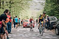 Robert Gesink (NED/LottoNL-Jumbo) up the Côte de la Roche aux Faucons<br /> <br /> 104th Liège - Bastogne - Liège 2018 (1.UWT)<br /> 1 Day Race: Liège - Ans (258km)