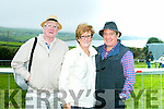 Enjoying the Dingle Races at Ballintaggart Racecourse on Saturday were l-r  Pat Scott, Ann Scott and Peter Gibson.