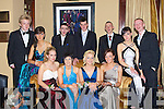 BALL:Dancing the night away at the Vocational School, Abbeyfeale Debs, in The Abbey Gate Hotel, Tralee on Thursday night, Front l-r: Kim Young (Templeglantine), Heather Setterfield (Knocknaghoshel), Niamh Greaney (Brodford), Kimberlee O'Brien and Marita Hartnett (Abbeyfeale), Brarbara Browne  and Ian Lane (Brosna), Back l-r: Danny Dore (Templeglantine), Denis Collins (Mount Collins), Stephen Relihan (Brosna) and Liam Murphy (Knocknagoshel). .... ..........