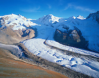 Mission Matterhorn, View from Gornergrat to Monte Rosa and Liskamm, Boarderglacier, Gornerglacier and Schwärzeglacier, Matterhorn, Switzerland