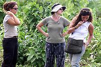 (Da esquerda para direita)Sofia Eganã , Silvana Turner e Anahi Marina Ginarte , as 3 forenses vindas da Argentina para acompanhar o caso dos desaparecidos do Araguaia conversam antes de iniciar os trabalhos. Entre os guerrilheiros mortos estariam Walquíria, Oswaldão, Pedro  Alexandrino e Baptista.<br />Xambioá, Tocantins Brasil<br />Foto Paulo santos/Interfoto<br />05/03/2004