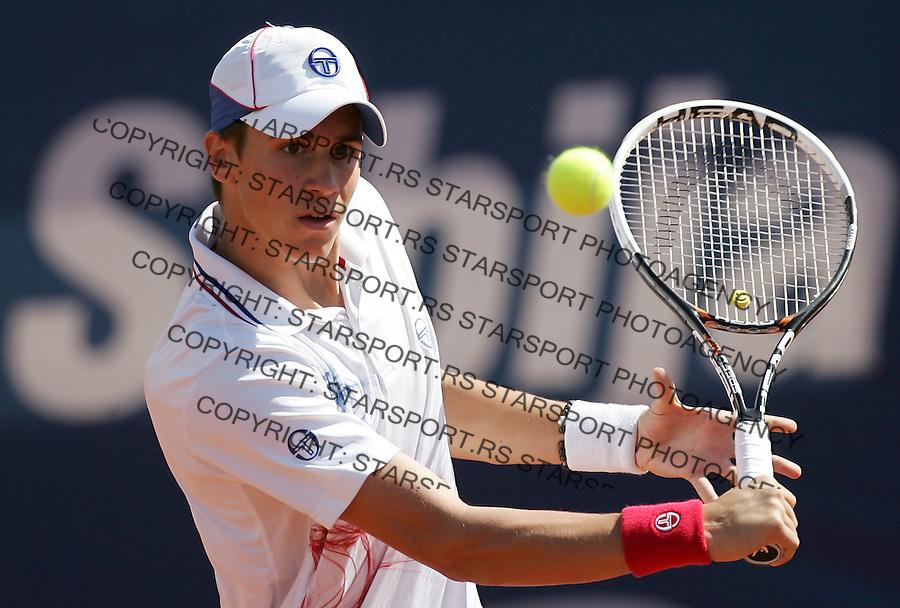 Serbia Open 2012.Qualifications.Djordje Djokovic (SRB) Vs. Josselin Ouanna (FRA).Belgrade, 28.04.2012..foto: Srdjan Stevanovic/Starsportphoto ©