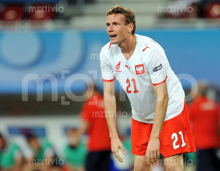 FUSSBALL EUROPAMEISTERSCHAFT 2008  Polen - Kroatien    16.06.2008 Der enttaeuschte Pole Mladen Petric (POL)