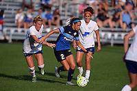 Kansas City, MO - Sunday August 28, 2016: Kassey Kallman, Shea Groom, Angela Salem  during a regular season National Women's Soccer League (NWSL) match between FC Kansas City and the Boston Breakers at Swope Soccer Village.