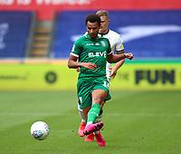 5th July 2020; Liberty Stadium, Swansea, Glamorgan, Wales; English Football League Championship, Swansea City versus Sheffield Wednesday; Jacob Murphy of Sheffield Wednesday passes the ball