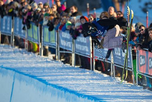 28.02.2016. Toyen, Big Jump Oslo, Norway.  Red Bull X Games Oslo 2016. Ladies Ski Big Air Final. Cassie Sharpe of Canada in action during the Ladies Ski Big Air Final at the Red Bull X Games Oslo 2016 in Toyen Big Jump  Oslo, Norway.