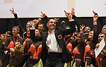 07.12.2019,  GER; Tanzen, WDSF Weltmeisterschaft der Lateinformationen, Finale, im Bild Gruen-Gold-Club Bremen (GER) jubelt ueber den Sieg Foto © nordphoto / Witke