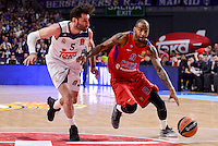 Real Madrid's Rudy Fernandez and CSKA Moscow Aaron Jackson during Turkish Airlines Euroleague match between Real Madrid and CSKA Moscow at Wizink Center in Madrid, Spain. January 06, 2017. (ALTERPHOTOS/BorjaB.Hojas)