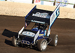 BRANDON, SD - MAY 12:  NASCAR's Kyle Larson comes into turn three during hot laps Sunday night at Huset's Speedway in Brandon.  (Photo by Dave Eggen/Inertia)