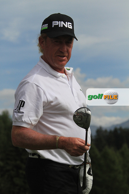 on the 1st day of the Omega European Masters, Crans-Sur-Sierre, Crans Montana, Switzerland..Picture: Golffile/Fran Caffrey..Miguel Angel Jinenez (ESP)  with his Ping clubs during the Omega European Masters, Crans-Sur-Sierre, Crans Montana, Switzerland..Picture: Golffile/Fran Caffrey..