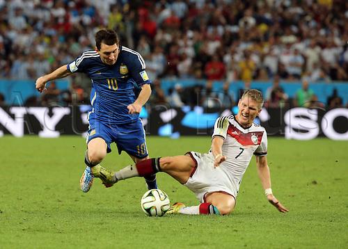 13.07.2014. Rio de Janeiro, Brazil. World Cup Final. Germany versus Argentina. Messi against Schweinsteiger