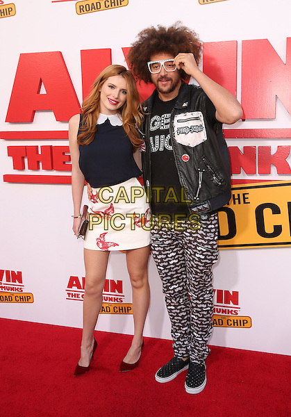 Los Angeles, CA - December 12 Bella Thorne, Redfoo Attending Premiere Of 20th Century Fox's &quot;Alvin And The Chipmunks: The Road Chip&quot; At The Zanuck Theater at 20th Century Fox Lot On December 12, 2015. <br /> CAP/MPI/FS<br /> &copy;FS/MPI/Capital Pictures