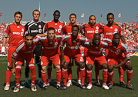 15 August 2009: Starting eleven for the Toronto FC during a game at BMO Field in Toronto between D.C. United and Toronto FC..Toronto FC won 2-0.Photo by Nick Turchiaro/isiphotos.com.