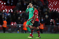Alex McCarthy and Nathan Redmond of Southampton after Tottenham Hotspur vs Southampton, Premier League Football at Wembley Stadium on 5th December 2018