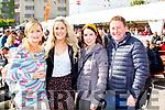 Jodie Monson, Marie Kelliher Denise and Conor Gleeso enjoying the Bikefest in Killarney on Sunday