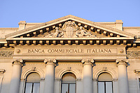 - Milan, headquarters of Italian Commercial Bank in Scala square<br /> <br /> - Milano, sede della Banca Commerciale Italiana in piazza della Scala
