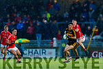 Tony Brosnan, Dr Crokes  in action against Chris O'Donoghue, East Kerry during the Kerry County Senior Club Football Championship Final match between East Kerry and Dr. Crokes at Austin Stack Park in Tralee, Kerry.