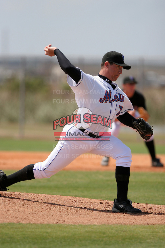 New York Mets minor leaguer Tobi Stoner during Spring Training at the Carl Barger Training Complex on March 20, 2007 in Melbourne, Florida.  (Mike Janes/Four Seam Images)