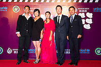 HAIKOU, CHINA - OCTOBER 29:  (L-R) Hong Kong actor Michael Wong, Se Ri Pak, He Yong Choi, Dany Lee of New Zealand and Ahn Sung Ki attend red carpet during day three of the Mission Hills Start Trophy tournament at Mission Hills Resort on October 29, 2010 in Haikou, China. Photo by Victor Fraile / studioEAST