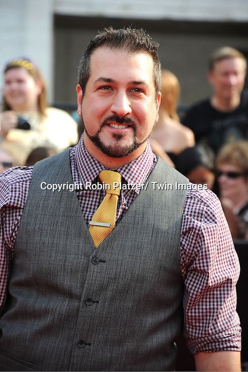 "Joey Fatone arriving to the"" Harry Potter and the Deathly Hallows- Part 2""  North American Premiere on July 11, 2011 at Avery Fisher Hall in Lincoln Center in New York City."