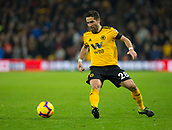 11th February 2019, Molineux, Wolverhampton, England; EPL Premier League football, Wolverhampton Wanderers versus Newcastle United; Joao Moutinho of Wolverhampton Wanderers passing the ball forward