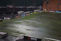 Washington,D.C. - Saturday, August 12, 2017: The MLS game between DC United and Real Salt Lake at RFK Stadium was abandoned after 28 minutes due to severe flooding.