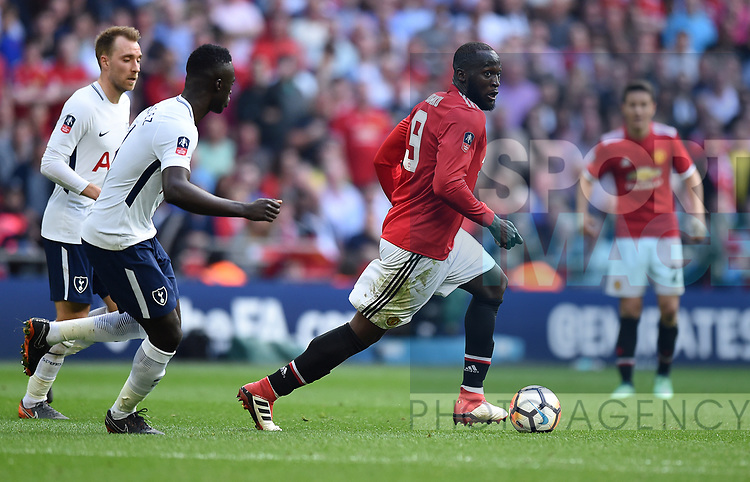 Romelu Lukaku of Manchester United during the FA cup semi-final match at Wembley Stadium, London. Picture date 21st April, 2018. Picture credit should read: Robin Parker/Sportimage