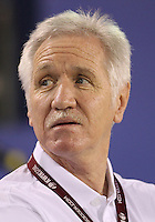 BOCA RATON, FL - DECEMBER 15, 2012: Tom Sermanni new coach of the USA WNT of during an international friendly match at FAU Stadium, in Boca Raton, Florida, on Saturday, December 15, 2012. USA won 4-1.