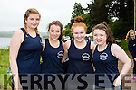 Glen/Ballinskelligs rowers Cara Coffey, Hazel Sugrue, Saidbh Brennan and Casey O'Connell at the Callinafercy Regatta on Sunday