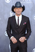 LAS VEGAS, NV - APRIL 6:  Tim McGraw at the 49th Annual Academy of Country Music Awards at the MGM Grand Garden Arena on April 6, 2014 in Las Vegas, Nevada.MPIPG/Starlitepics