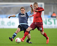 Fussball 2. Bundesliga:  Saison   2012/2013,    16. Spieltag  TSV 1860 Muenchen - SC Paderborn  27.11.2012 Kai Buelow ( li, 1860 Muenchen) gegen Deniz Yilmaz (SC Paderborn 07)