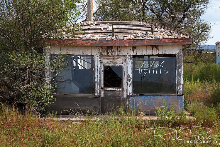 An abandoned store along Route 66 in Newkirk, New Mexico.