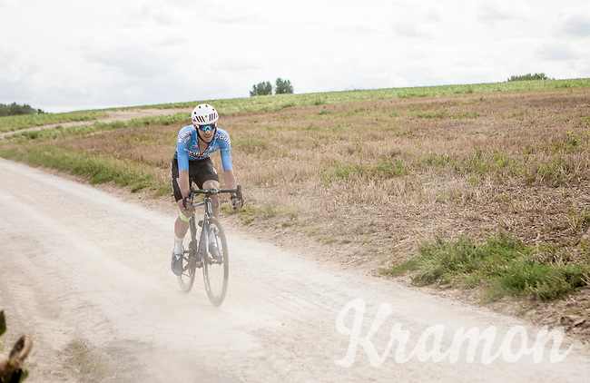 Dries De Bondt (BEL/Veranda's Willems Crelan) over  the Plugstreets Gravel Sections. <br /> <br /> <br /> 1st Great War Remembrance Race 2018 (UCI Europe Tour Cat. 1.1) <br /> Nieuwpoort > Ieper (BE) 192.7 km