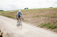 Dries De Bondt (BEL/Veranda's Willems Crelan) over  the Plugstreets Gravel Sections. <br /> <br /> <br /> 1st Great War Remembrance Race 2018 (UCI Europe Tour Cat. 1.1) <br /> Nieuwpoort &gt; Ieper (BE) 192.7 km